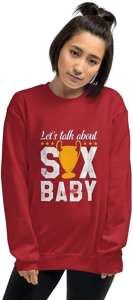 Jajuvi Club Liverpool FC Lets Talk About Six Unisex Sweatshirt Red