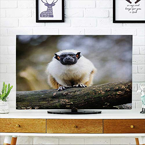 Price comparison product image PRUNUS Television Protector Portrait of an Adult pied tamarin Television Protector W30 x H50 INCH/TV 52""