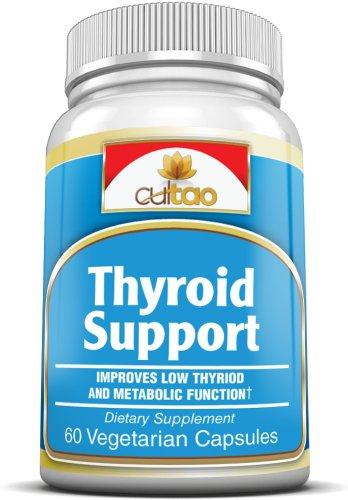 Soutien de la thyroïde suppléments de primes w / L-Tyrosine, iode (De varech), extrait de feuilles de thé vert, Guggulipid, Bacopa monniera, sélénium et de la vitamine A, B6, C et D - 100% naturel à base de plantes Formule Complète soutien fonctionnelle d