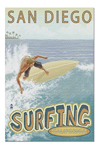 San Diego, California - Surfer Tropical (20x30 Premium 1000 Piece Jigsaw Puzzle, Made in ()