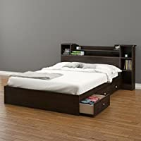 Pocono 3-Drawer Storage Bed with Bookcase Headboard Full