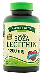 Nature\'s Truth Ultra Soya Lecithin 1200 mg, 120 Count (Pack of 3)