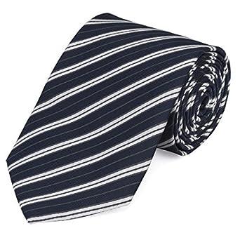 Corbata de Fabio Farini en negro azur blanco: Amazon.es: Ropa y ...