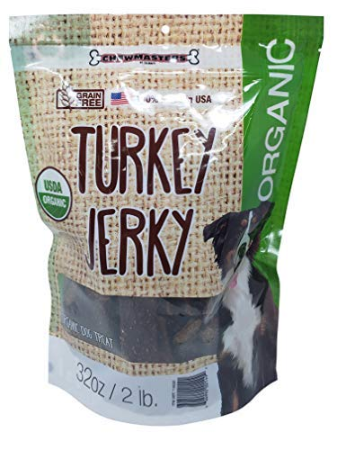 Chewmaster Organic Turkey Jerky Treats, 2 Pound