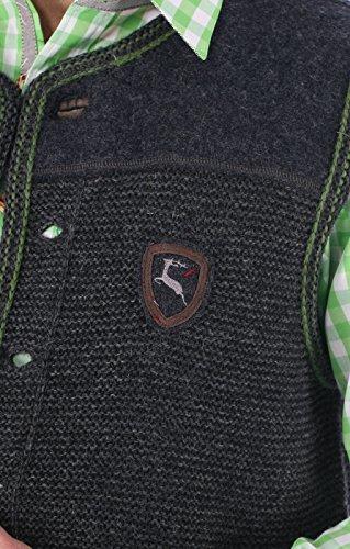 German knitted waistcoat Ramsau SW darkgrey-grass by Spieth & Wensky (Image #1)