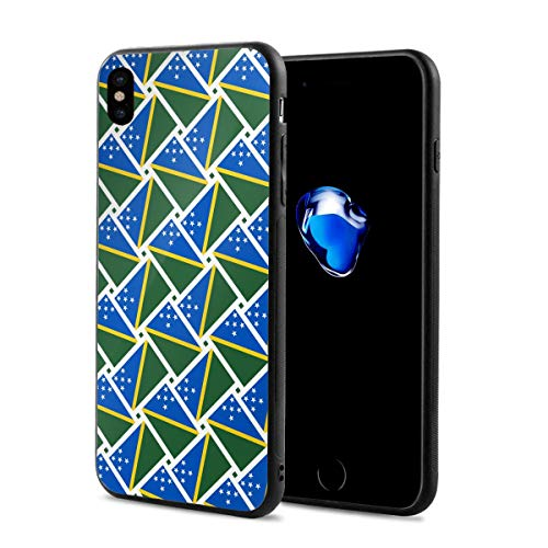 iPhone X Case Solomon Islands Flag Weave Lightweight Anti-Fingerprint Fashion Cases Covers Compatible with iPhone X