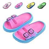 Toddler Little Kids Summer Sandals Non-Slip Boy Girl Slide Lightweight Beach Water Shoes Shower Pool Slippers (Little Kid 11-12M, Rose Red)