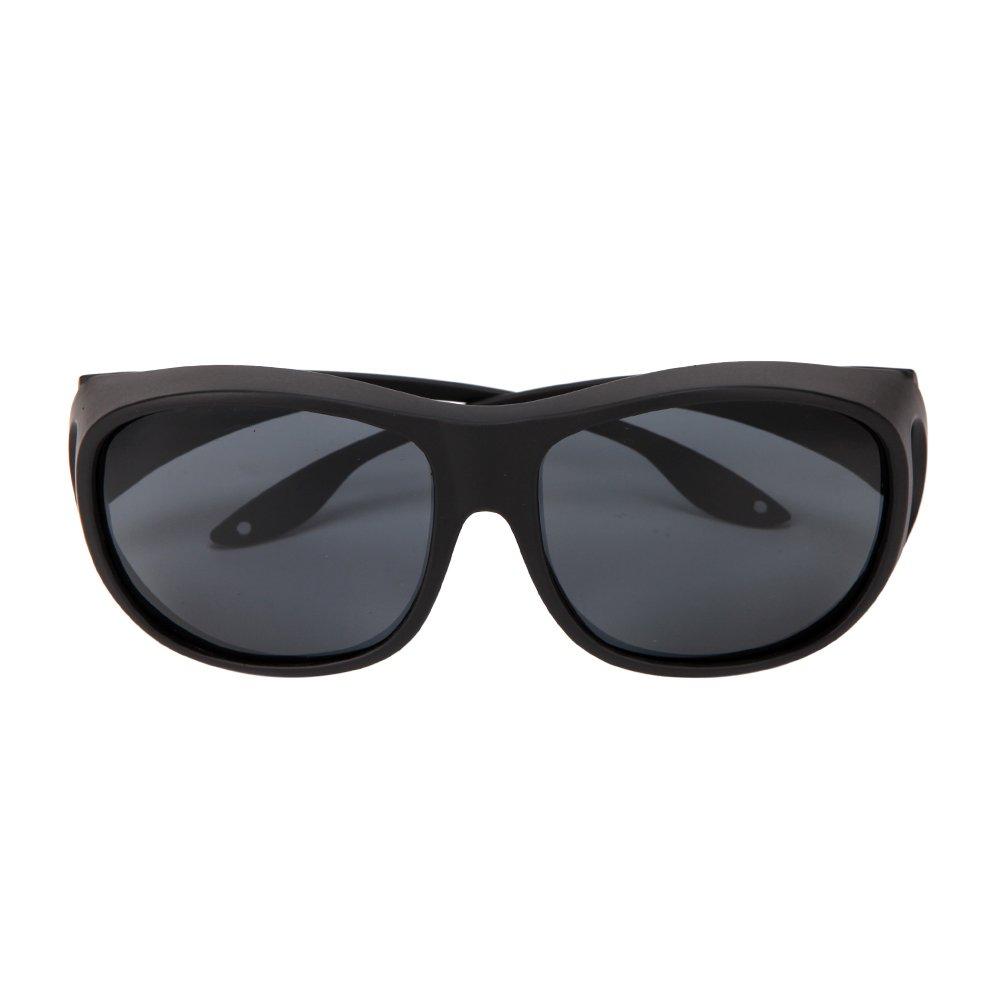 Solarfun Polarized Fit Over Glasses Sunglasses Wrap Around Solar Reduce Shield for Men and Women's Driving,Black by Solarfun (Image #7)