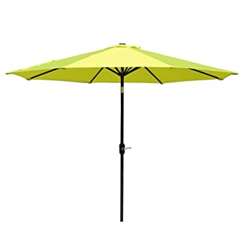 Sumbel Outdoor Living 10 FT Round Market Patio Umbrella With Push Button  Tilt And Crank Lift