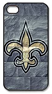icasepersonalized Personalized Protective Case For Samsung Note 4 Cover NFL New Orleans Saints in Stone Background