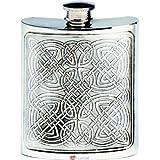 6oz Pewter Hip Flask Celtic Panel