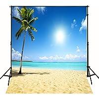10x10 FT Tropical Beach Backdrop Wedding Photography Wallpaper Cloth Digital Beautiful Sea Sand Beach Scenic Photographic Background 0691