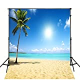 10x10 FT Tropical Beach Backdrop Wedding Photography Wallpaper Cloth Digital Beautiful Sea Sand Beach Scenic Photographic Background 0691