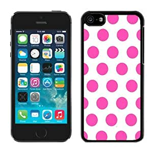 MEIMEIPolka Dot White and Pink ipod touch 4 Case Black CoverLINMM58281