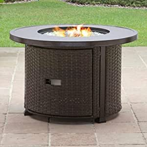 Gas Fire Pit, Outdoor, Color Bronze and Brown