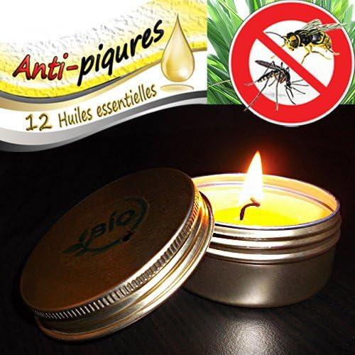 Vela antimosquitos ecológica, natural, 12 aceites esenciales ...
