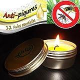 Bougie anti moustique écologique naturelle 12 Huiles Essentielles