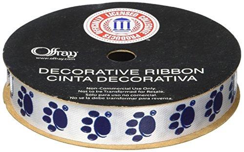 Offray Penn State University Nittany Lion Fabric Ribbon, 9/16