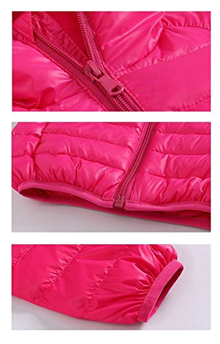 Baby 2 Girls Packable Coats Pink Winter Down Hoodie Fairy Size Kids Baby pink 3T Lightweight Boys Jacket 5tOqSwzq