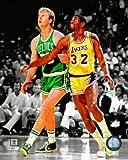 Larry Bird Boston Celtics Magic Johnson LA Lakers NBA Spotlight Action Photo #17 8x10