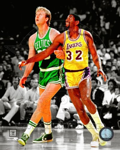 Larry Bird Boston Celtics Magic Johnson LA Lakers NBA Spotlight Action Photo #17 8x10 by NBA
