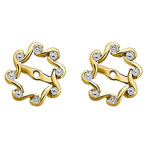 1/4 ct. Diamonds (G-H,I2-I3) Everlasting Earring Jacket in 14k Yellow Gold (0.24 ct. twt.) 14k Gold Diamond Earring Jackets