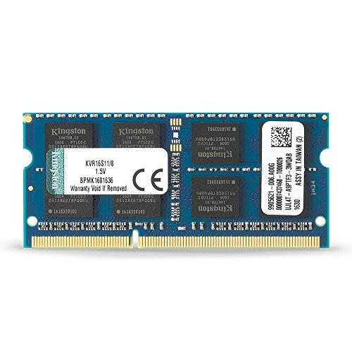 Kingston KVR16S11/8 Arbeitsspeicher 8GB (DDR3 Non-ECC CL11 SODIMM 204-pin 1.5V)