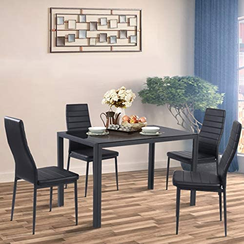 home, kitchen, furniture, kitchen, dining room furniture,  table, chair sets 10 discount Giantex 5 Piece Kitchen Dining Table Set with in USA