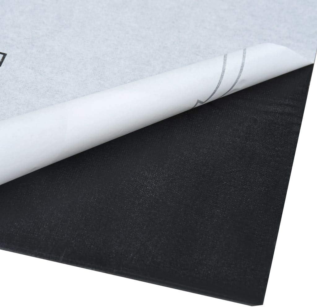 vidaXL Laminat Dielen Selbstklebend Schimmelbest/ändig Antiallergen Bodenbelag Vinylboden Fu/ßboden Designboden 5,11m/² PVC Wei/ßer Marmor