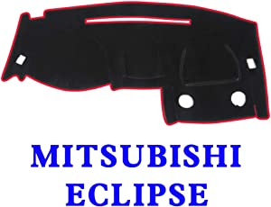 JIAKANUO Auto Car Dashboard Carpet Dash Board Cover Mat Fit Mitsubishi Eclipse 2000-2005 (BLK-RED MR-010)