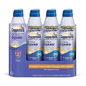 Coppertone Ultra Guard SPF50 Continuous Spray Sunscreen (7.5 fl. oz., 4 pk.) by Coppertone