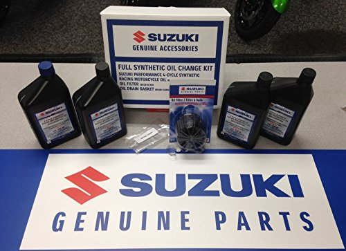 [Suzuki OEM Oil Change Kit 4 Quarts Full Synthetic GSXR M109 Bandit Vstrom] (Oem Full Kit)