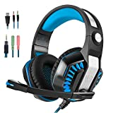 Gaming Headset,Collee GM-2 3.5mm Over-Ear LED light Gaming Headset/headphone with Volume Control Microphone for PC, Xbox One¹, PS4, Wii U,Mobile Phones