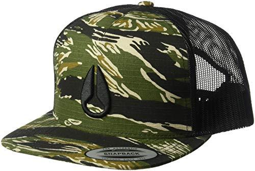 NIXON Men's Deep Down Trucker Hat, Tiger camo, One Size Fits All (Tiger Trucker Hat)