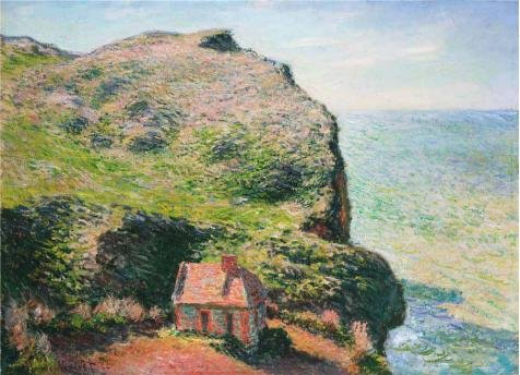 'The Customs House, 1882 By Claude Monet' Oil Painting, 10x14 Inch / 25x35 Cm ,printed On Perfect Effect Canvas ,this Beautiful Art Decorative Canvas Prints Is Perfectly Suitalbe For Basement Gallery Art And Home Decor And Gifts