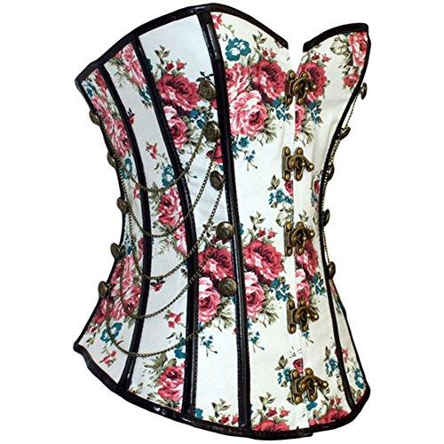 PULABO Corset - Bustino - fasciante - donna - Vintage stile gotico