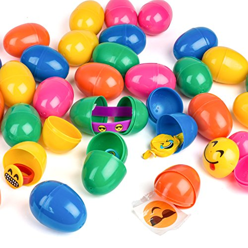 Emoji Toy Filled Easter Eggs - 30 Bright and Colorful 2.5
