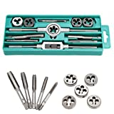 12PCS Adjustable Metric Tap Die Set M6 M7 M8 M10 M12 Screw Threading Wrench Mold Tool