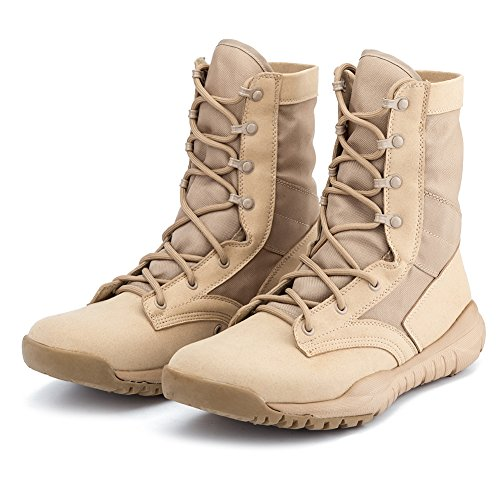 d3dc15b0fab IODSON US Mens' Ultra-Light Combat Boots Military Tactical Work ...