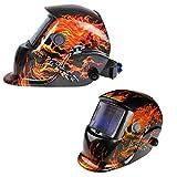 Welding Helmet - Flames / Skull - Auto-Darkening - Solar/C.P.S