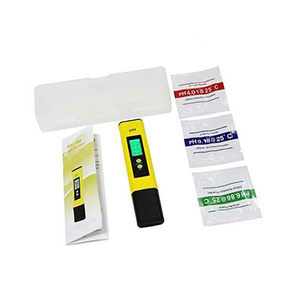 Morza Medidor de pH Digital 0,01 PH de Alta precisi/ón probador de la Calidad del Agua 0-14 PH Rango de medici/ón para Beber Agua de Acuario