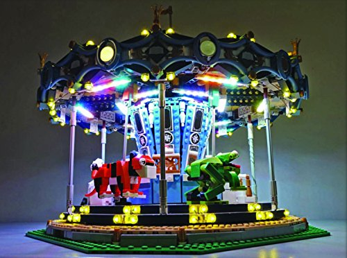 brickled Led light set for lego Carousel 10257 Lighting Kit (lego set not incuded) (Carousel Light)