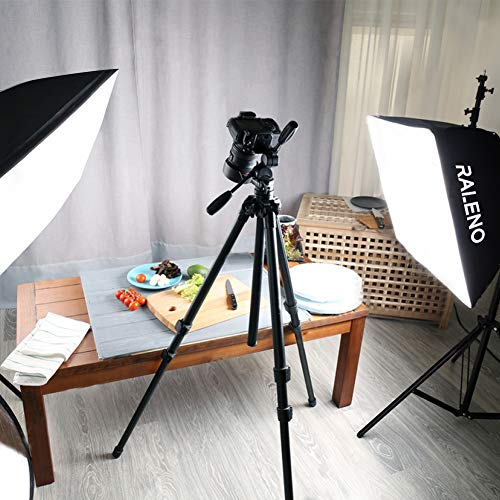 RALENO Softbox Photography Lighting Kit 20''X28'' Photography Continuous Lighting System Photo Studio Equipment with 2pcs E27 Socket 5500K Bulb Photo Model Portraits Shooting Box by RaLeno (Image #8)