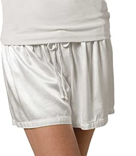 product image for PJ Harlow Women's Mikel Satin Boxer Short, Pearl, Small