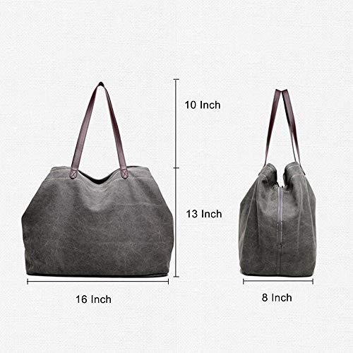 Style Bag TM KISS Bag Handle Canvas Hobo Dark Casual Top Blue Large Tote GOLD Shoulder n1xx07Aqw