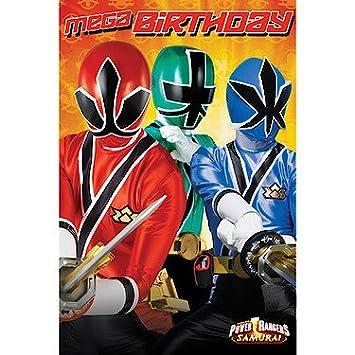 Power Rangers Birthday Card Amazon Toys Games
