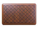 Butterfly Anti-Fatigue 20 x 32 Inch Quatrefoil Kitchen Comfort Mat, Antique