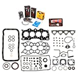 Evergreen Engine Rering Kit FSBRR4011 90-01 Acura Integra B18A1 B18B1 Full Gasket Set, Standard Size Main Rod Bearings, 0.50mm / 0.020'' Oversize Piston Rings