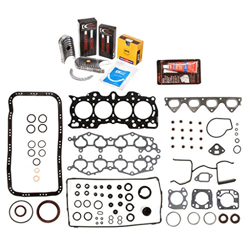 Evergreen Engine Rering Kit FSBRR4011\0\0\0 Fits 90-01 Acura Integra B18A1 B18B1 Full Gasket Set, Standard Size Main Rod Bearings, Standard Size Piston Rings