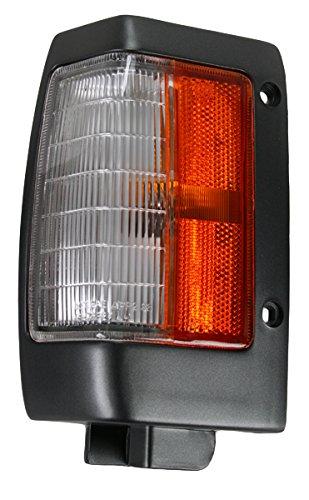 Black Parking Corner Side Marker Signal Light Lamp Pair Set for 90-97 D21 Pickup